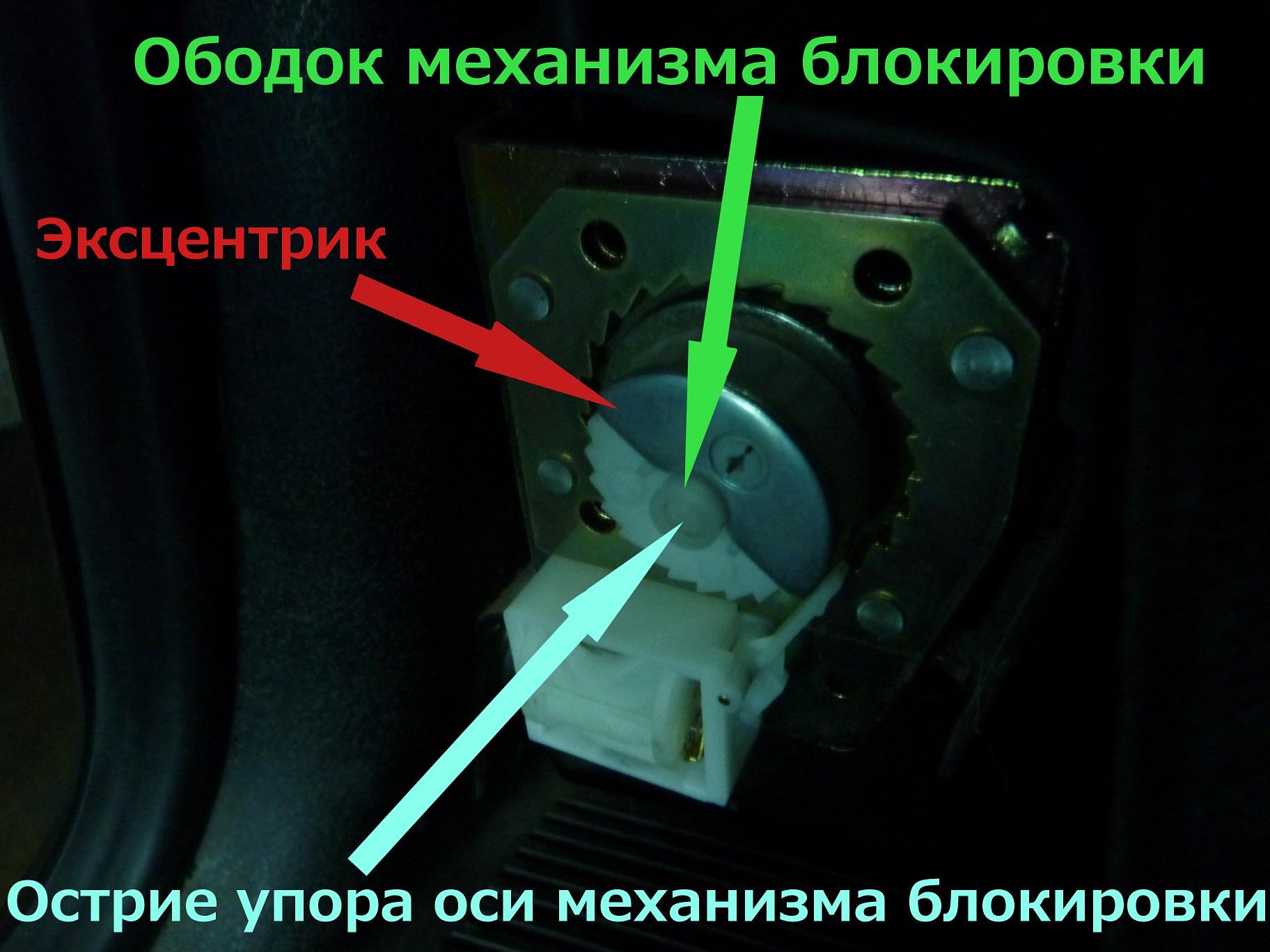 Механизм блокировки выходы ремня безопасности из катушки автомобиля НИВА